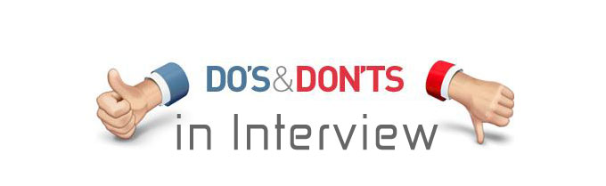 Image result for Dos and don'ts of interview